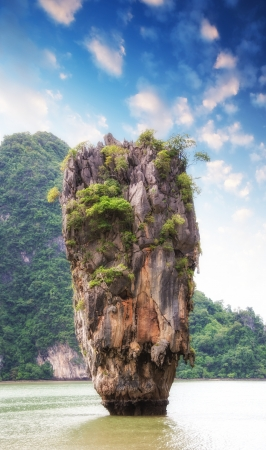 Beautiful view of Phang Nga Bay rocks, James Bond Island, Thailand. Stock Photo - 19022895