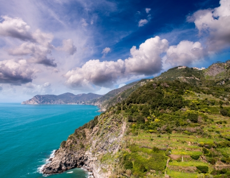 Wonderful landscape of Cinque Terre Coast, Italy  photo