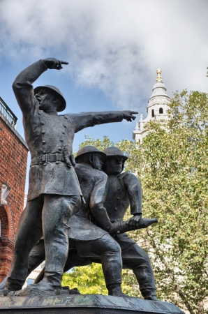 Bronze sculpture near St Paul Cathedral, London. Stock Photo - 19193443