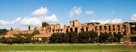 palatine: Circus Maximus  ancient Roman stadium, the Palatine hill - Italy - Circo Massimo