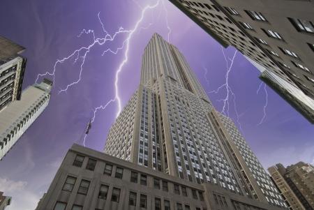 Storm over New York City, U.S.A. photo