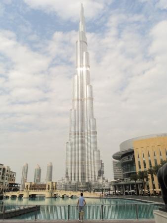 DUBAI, UAE - JAN 10: Burj khalifa, the highest building in the world, Downtown on January 10, 2011 in Dubai, UAE.