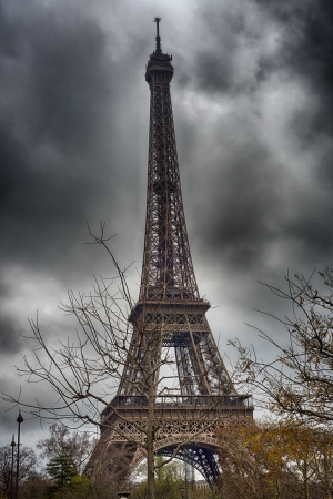 terrific: Terrific view of Eiffel Tower in winter season, Paris.