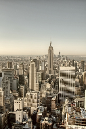 New York City. Wonderful aerial view of city skyscrapers.
