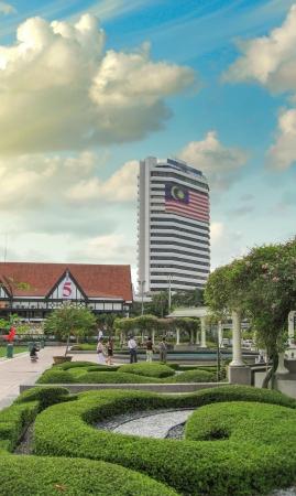 merdeka: Kuala Lumpur, Malaysia  Sunset colors over Merdeka Square