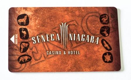 seneca: NIAGARA FALLS, USA - AUG 27  Seneca Niagara Hotel card, August 27, 2009 in Niagara Falls, USA  It is the largest hotel in New York outside of Manhattan
