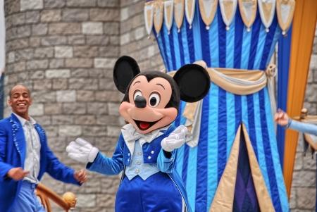 each year: ORLANDO - JAN 2: Walt Disney Resort detail on a beautiful winter day, January 2, 2008 in Orlando. The amusement park hosts more tha 15 million people each year.