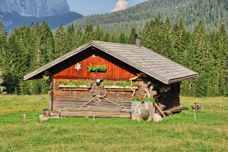 Dolomites, Summer season. Wonderful landscape of Italian Alps.