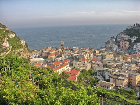 Beautiful view of Costiera Amalfitana - Italy, Amalfi Coast. photo