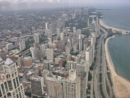 Wonderful aerial view of Chicago. photo
