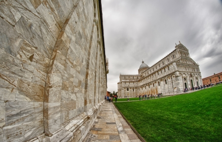 miracle square: Architectural detail of Miracle Square in Pisa, Italy Editorial