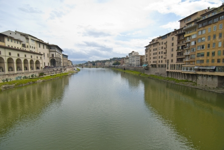 Lungarni view from Ponte Vecchio, Florence photo