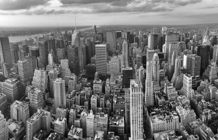 New York City. Magnifique vue aérienne panoramique de Manhattan Midtown Gratte-ciel.