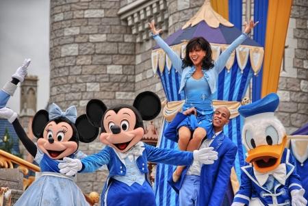ORLANDO - 2 janvier: Walt Disney Resort d?tail sur une belle journ?e d'hiver, 2 Janvier 2008 ? Orlando. Le parc d'attractions accueille plus de tha 15 millions de personnes chaque ann?e.