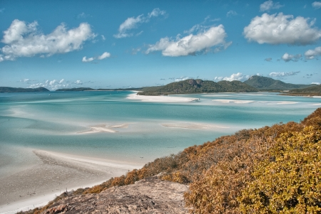 whitsunday: Great Barrier Reef, Australia. Wonderful Whitehaven Beach in the Whitsunday Islands. Stock Photo