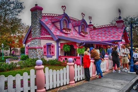 ORLANDO - JAN 2: Walt Disney Resort detail on a beautiful winter day, January 2, 2008 in Orlando. The amusement park hosts more tha 15 million people each year.