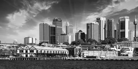 jorn: Skyscrapers of Sydney Harbour in Port Jackson - Australia