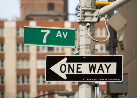 7th Avenue Street Sign in New York photo