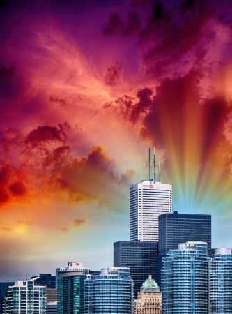 Toronto, Canada. Beautiful city skyline on a sunny day. Stock Photo - 22833668