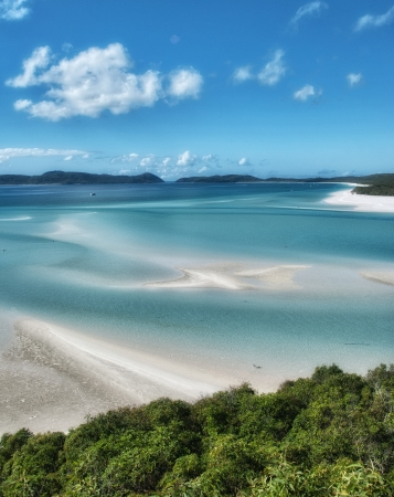 whitehaven: Great Barrier Reef, Australia. Wonderful Whitehaven Beach in the Whitsunday Islands. Stock Photo