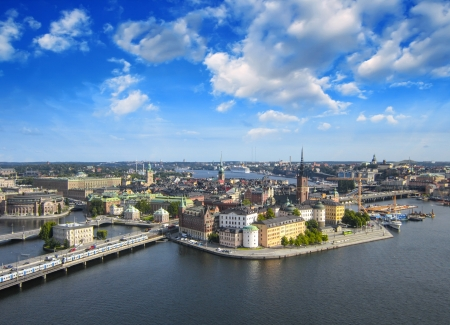 Stockholm, Sweden. Aerial view of the Old Town (Gamla Stan) photo