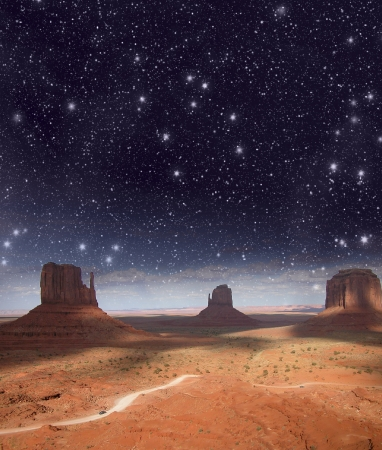 Night over Monument Valley, USA. photo