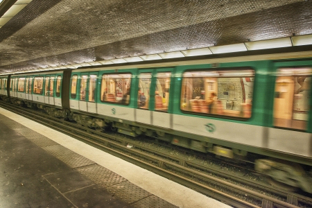 parisian scene: PARIS - DEC 1: Metro station on September 30, 2012 in Paris. Paris Metro is the 2nd largest underground system worldwide by number of stations (300)