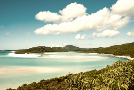 whitehaven: Whitehaven beach lagoon at national park queensland australia tropical coral sea  Stock Photo