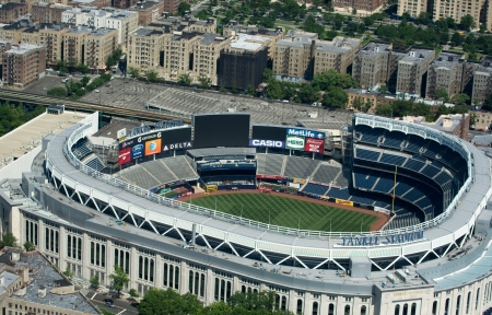 gehrig: NEW YORK CITY - MAY 21: Yankee Stadium is a stadium located in The Bronx in New York City. It is the home ballpark for the New York Yankees. May 21, 2013 in New York City, USA.