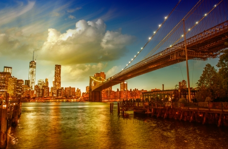 New York City. Beautiful skyline in summer season. photo