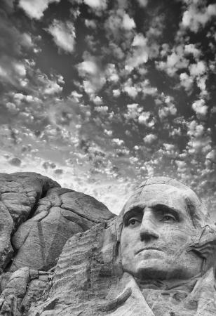 mount jefferson: Mount Rushmore - George Washington sculpture.