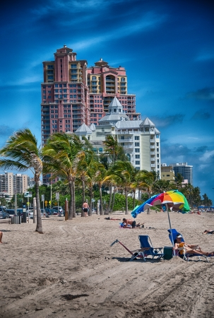 Beautiful colors of Fort Lauderdale coast, Florida. photo