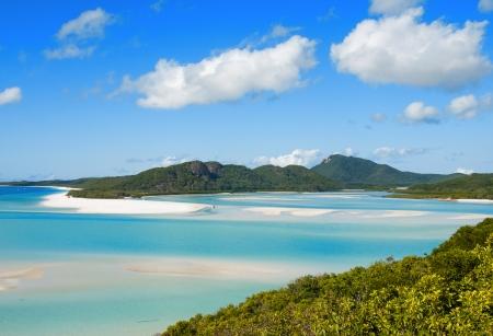 whitehaven: Whitehaven beach lagoon at national park queensland australia tropical coral sea.