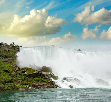 magnificence: Magnificence of Niagara Falls. Wonderful colors of nature.