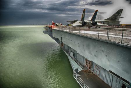 CORPUS CHRISTI, TX -  MAR 25: Aircraft Carrier USS Lexington, Mar 25, 2009  in Corpus Christi, TX. It is the fifth US Navy ship to bear the name of War Battle of Lexington