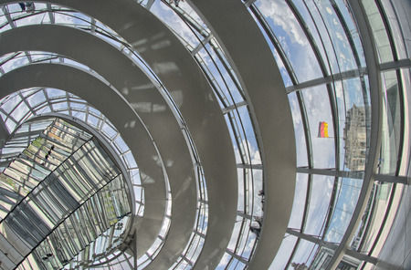 The Cupola on top of the Reichstag building in Berlin, Interior view - Germany.