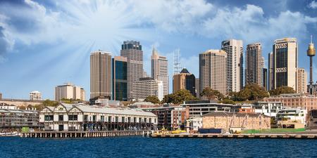 port jackson: Skyscrapers of Sydney Harbour in Port Jackson - Australia