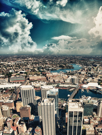 Sydney skyline, aerial view. photo