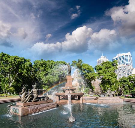 hyde: Sydney, Australia. Hyde Park and Archibald Fountain.