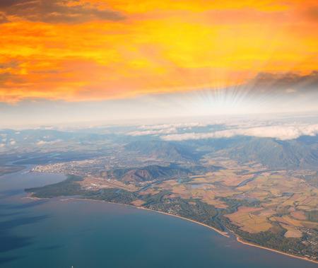 Dramatic sunset sky over Queensland Coast. photo