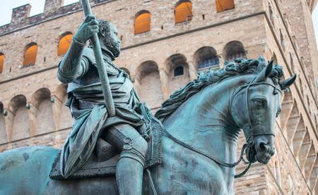 Statue of Cosimo I de Medici by Giambologna, Florence, Italy.