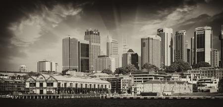 utzon: Skyscrapers of Sydney Harbour in Port Jackson - Australia