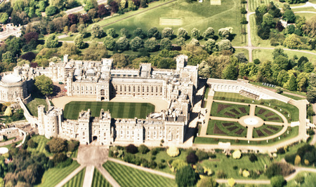 London. Windsor Castle as seen from space. Stock Photo - 28399505