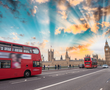 London skyline on a beautiful summer evening.