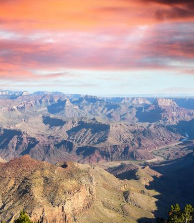 toroweap: Afternoon lights of Grand Canyon, Arizona, USA. Stock Photo