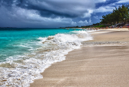 Beautiful Sandy Beach in the Caribbean, Bahamas photo