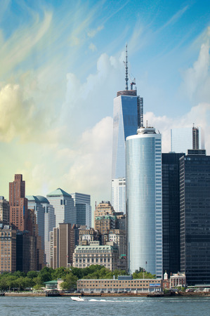 Manhattan, New York. Wonderful city skyline. photo