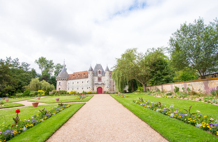 forniture: Historical Castle of Normandy, France. Chateau de Vendeuvre in Normandie.