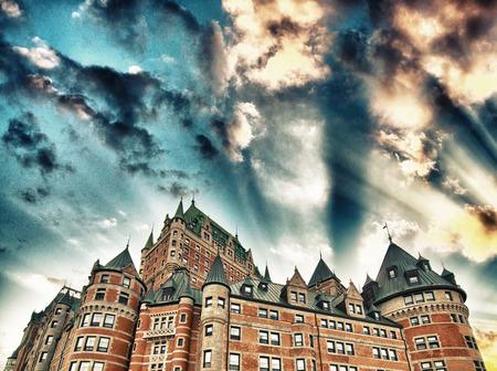 royale: Ancient Castle against sunset sky.