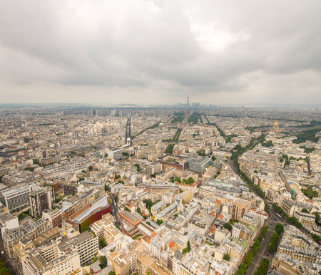 Stunning aerial view of Paris and Tour Eiffel. photo